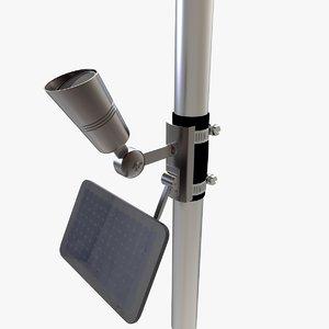 3D grade solar flag light