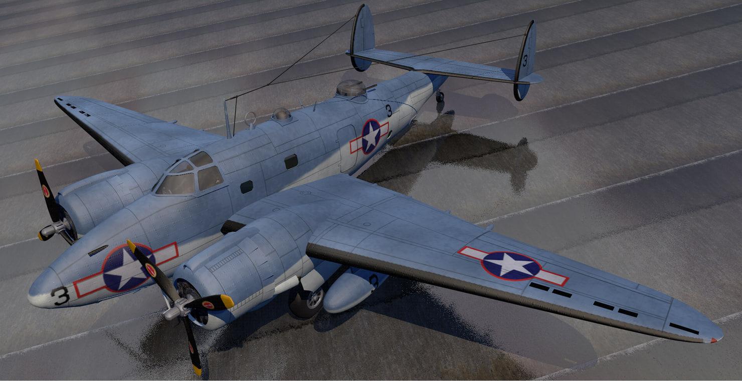 3D plane lockheed pv-1 ventura model