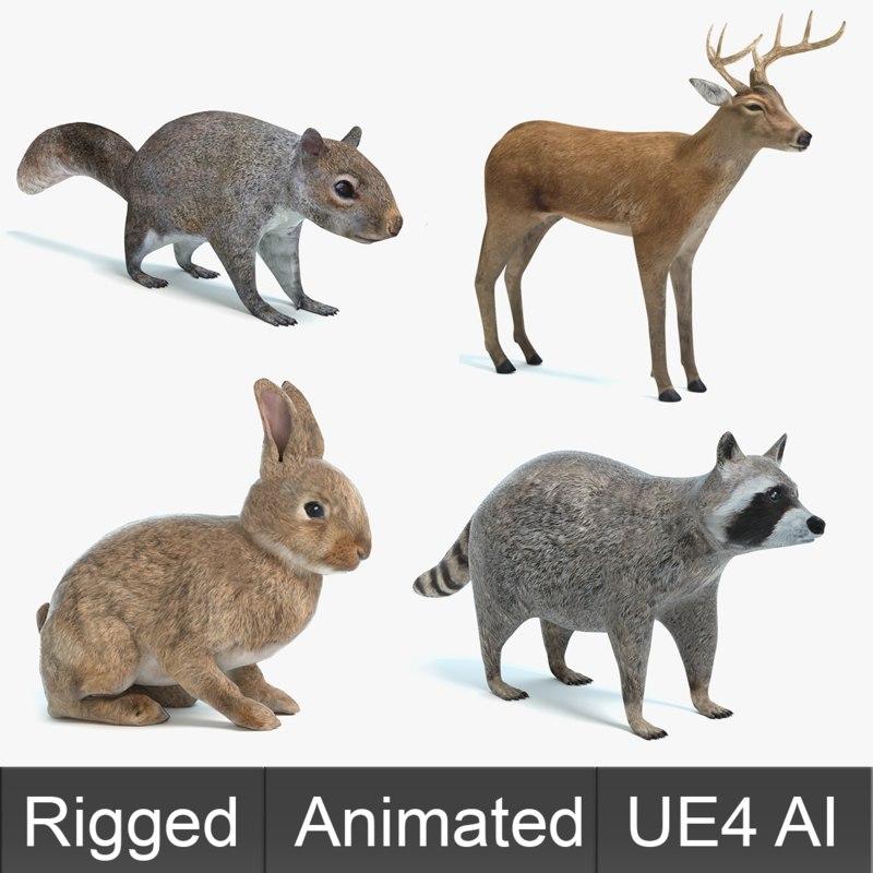 Animated Game Animals Set 1