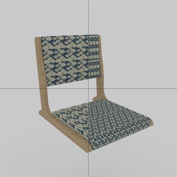 chair japan 3D