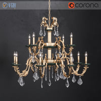 3D chandelier masiero eternity guatemala model