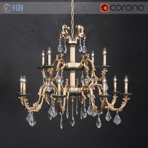 3D chandelier masiero eternity guatemala model