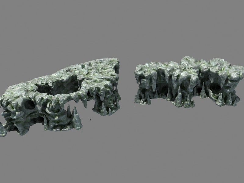 hill rock wall 3D model
