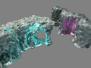3D rocks cliffs