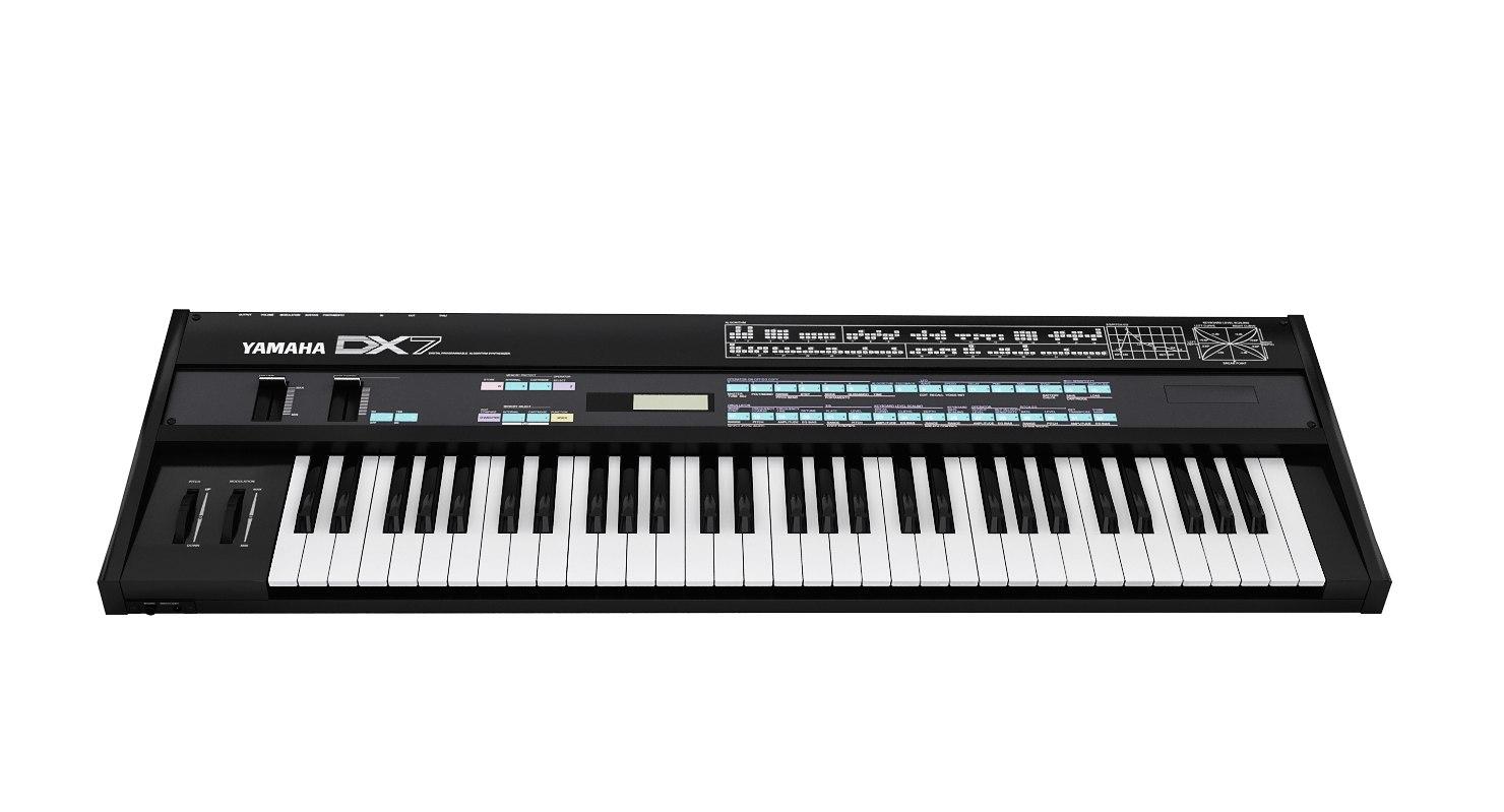 3D model synthesizer yamaha dx7