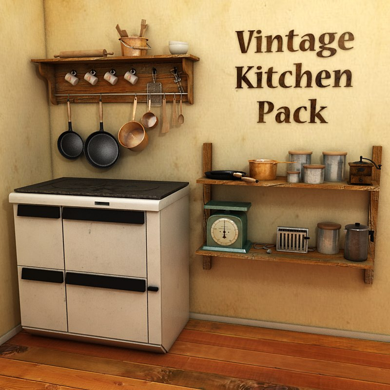 vintage kitchen 3D