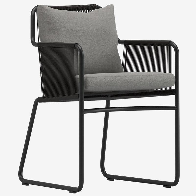 roda harp 395 armchair 3D model
