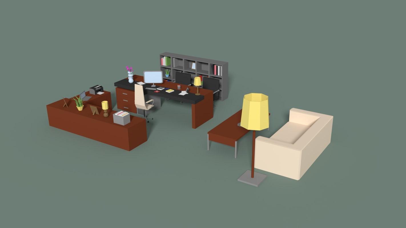 3D manager room model