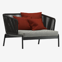 3D roda spool sofa model