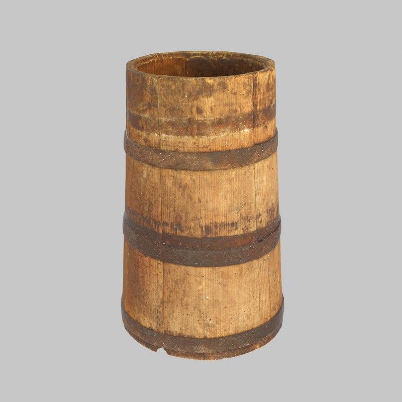 vat wood wooden 3D