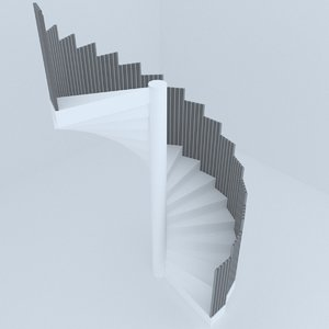 3D stairs architectural design model