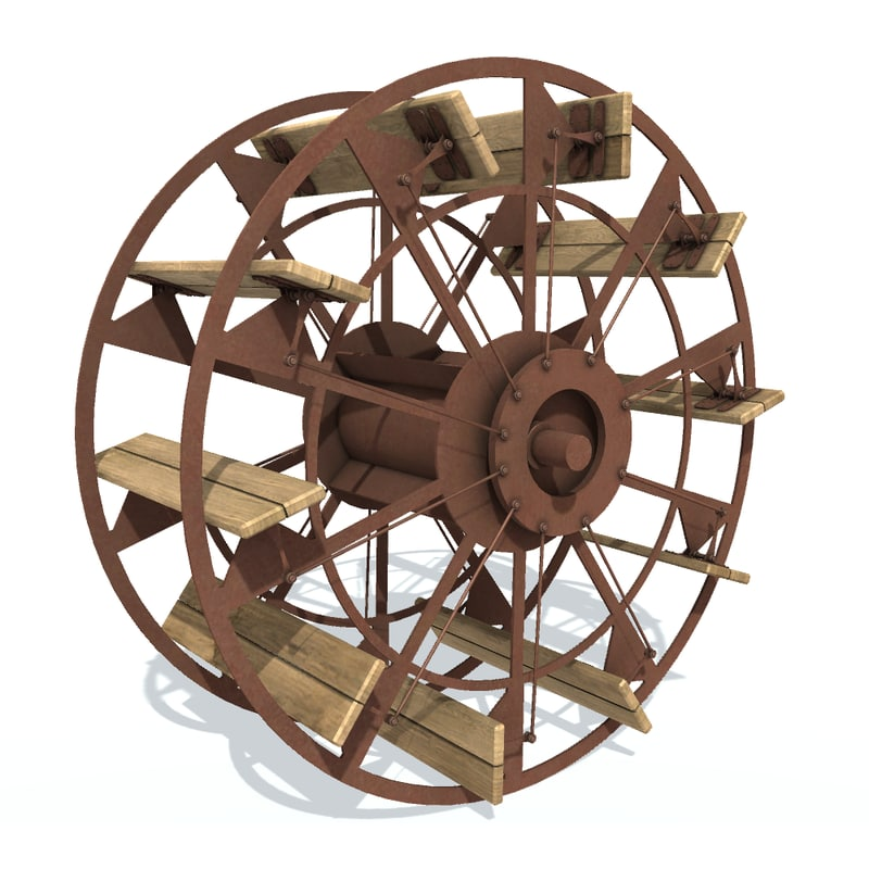 wheel paddle 3D model