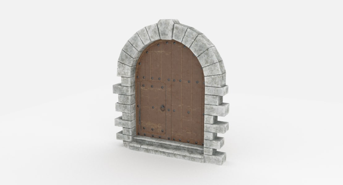 door medieval 3D model
