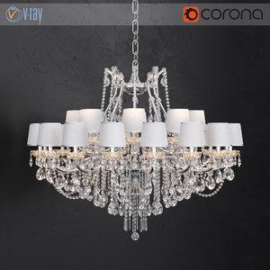 3D chandelier masiero maria teresa