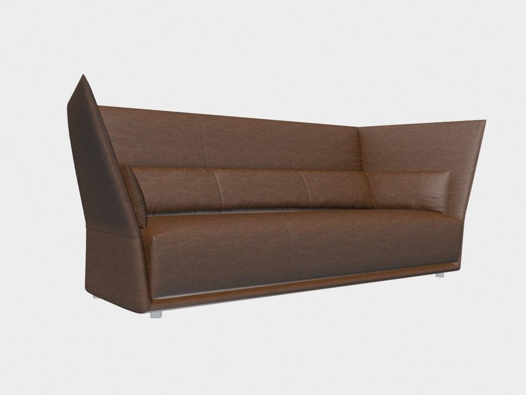Sofa almo poltrona frau 3d model turbosquid 1197231 for Poltrona 3d