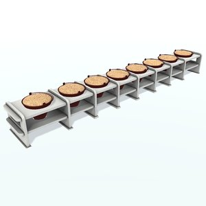 fire-prevention rack 3D