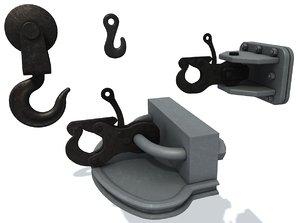 3D set ship hooks