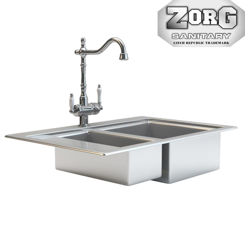 Kitchen Sink Model: Zorg Kitchen Sink 3D Model