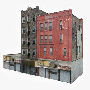 ready apartment building block 3D model