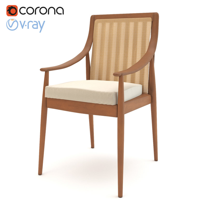3D realistic lounge chair model