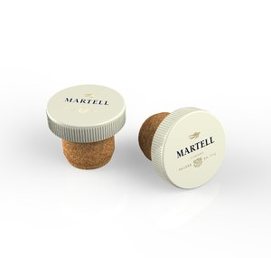 french martell cognac cork 3D model