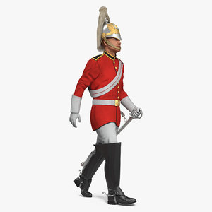 3D british royal lifeguard cavalry model