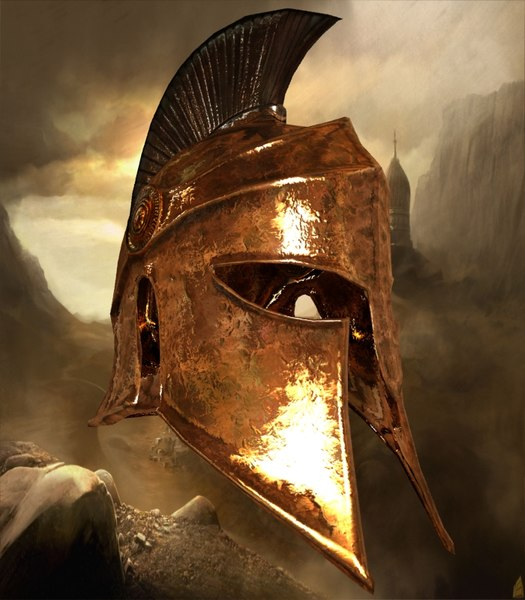 3D model greek helmet