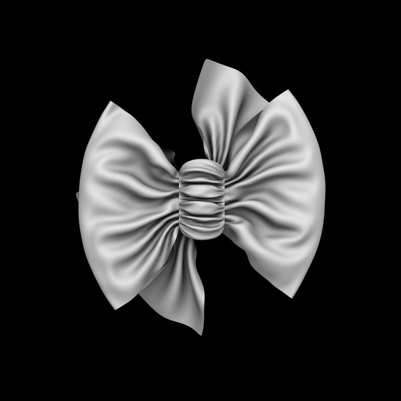 3D ruffle bow model