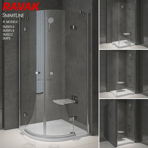 shower room ravak smartline 3D model