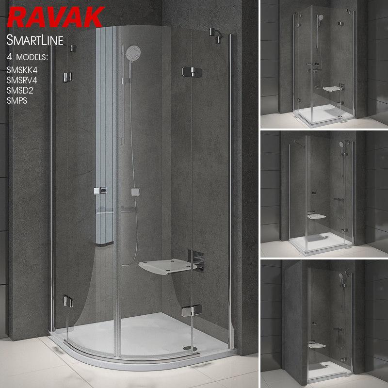 shower room ravak smartline 3D model
