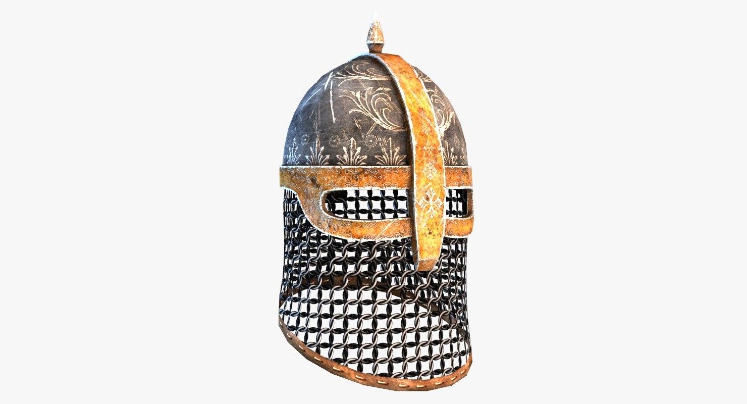 medieval helmet model