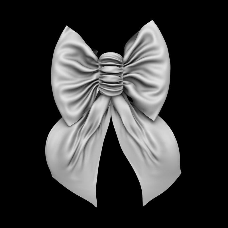 3D ruffle bow