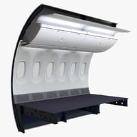 ryanair economy wall section 3D model