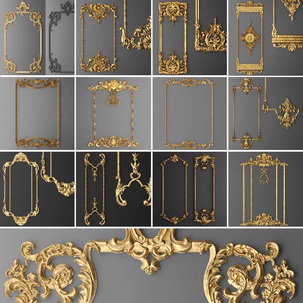 3D model stucco molding frame