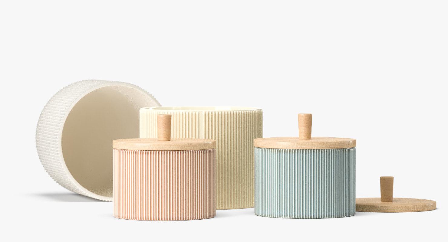 3D finnsdottir pipanella drum pots