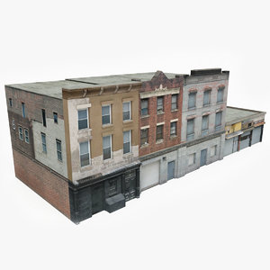 ready apartment building block model