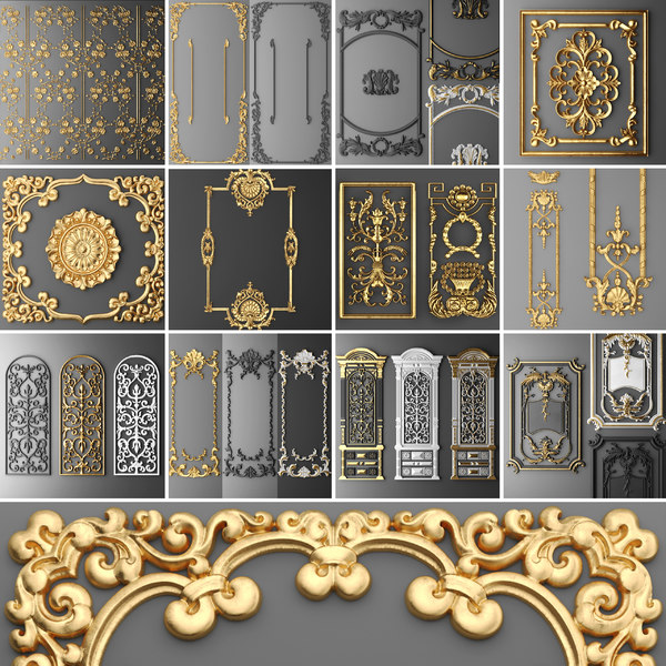 3D stucco molding frame