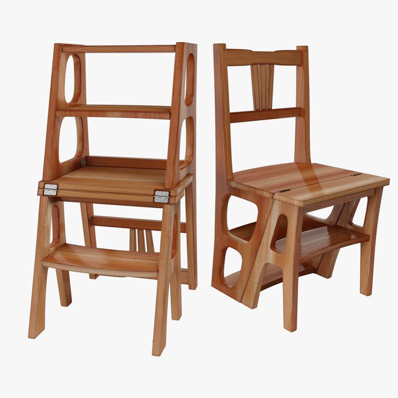 3D model chair ladder