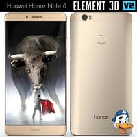 3D huawei honor note 8