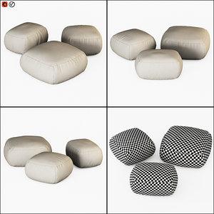 poufs bonaldo kernel 3D