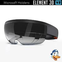 microsoft hololens element 3D model