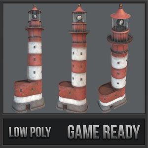 lighthouse pbr landmark lighting 3D
