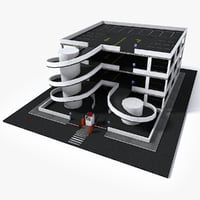3D parking polygons buildings