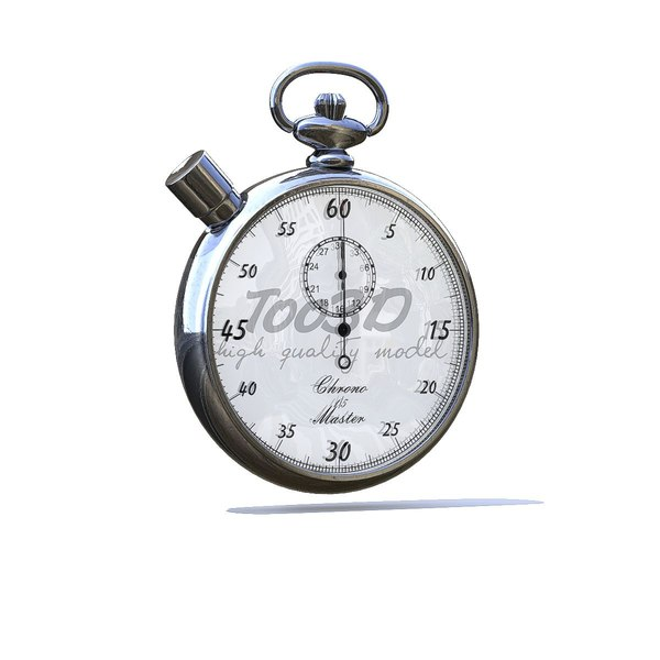 chrono stop stopwatch 3D model
