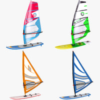 3D windsurf boards sail model