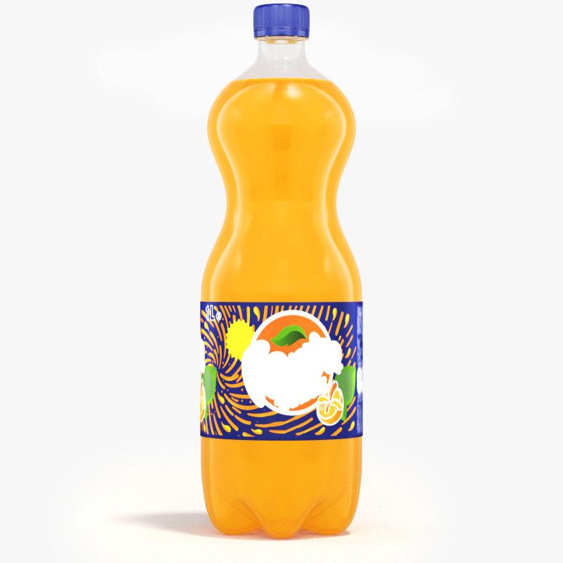 3D liter fanta bottle