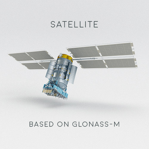 3D satellite glonass-m