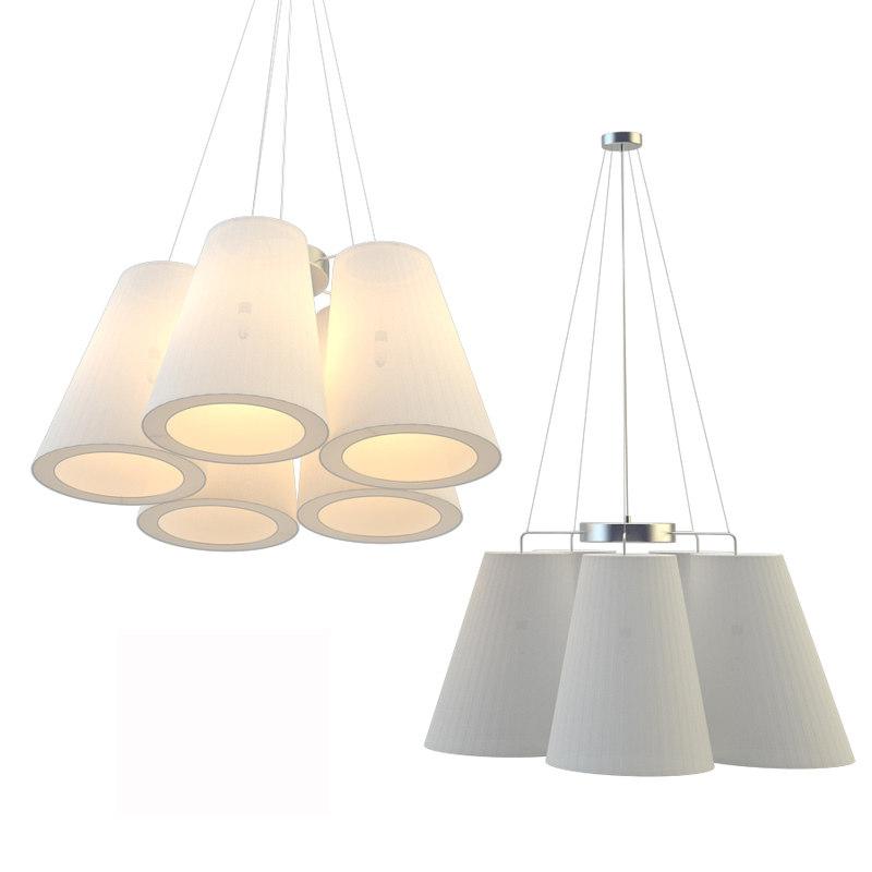 3D model chandelier arte lamp a9535lm-5ss