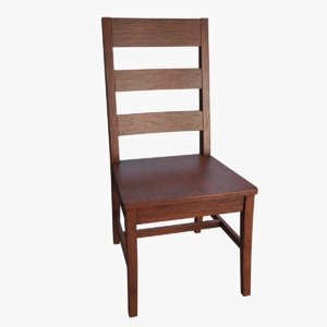 3D wood dining chair