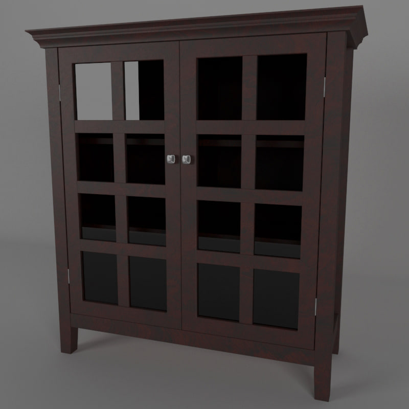 3D wood cabinet